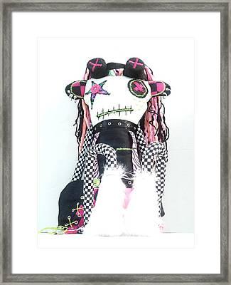 The Misfit Cyberpunk Pussy Cat Jones Version 1.0 Framed Print by Oddball Art Co by Lizzy Love