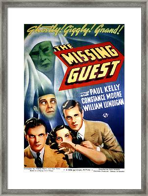 The Missing Guest, William Lundigan Framed Print