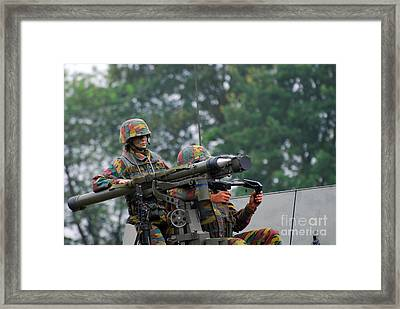 The Mistral Infrared Surface-to-air Framed Print by Luc De Jaeger