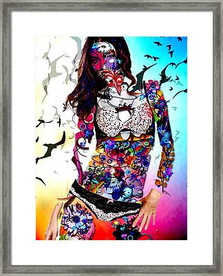 The Model Framed Print