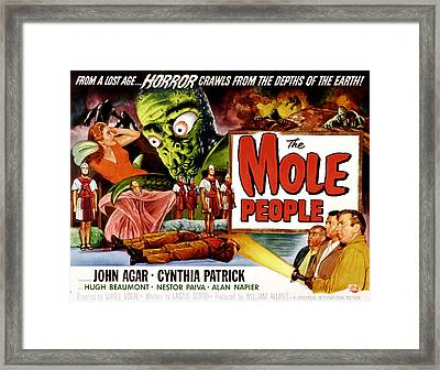 The Mole People, Girl On Upper Left Framed Print by Everett