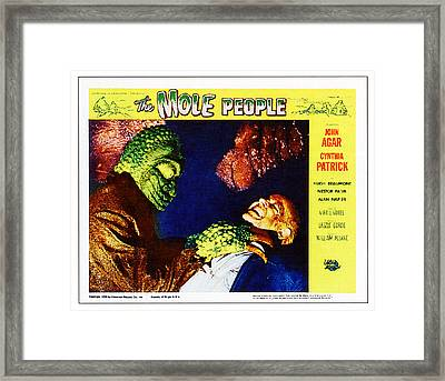 The Mole People, On Right Nestor Paiva Framed Print by Everett