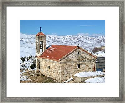 The Monastery Of Sheirobeem Framed Print by Issam Hajjar