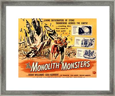 The Monolith Monsters, Grant Williams Framed Print by Everett
