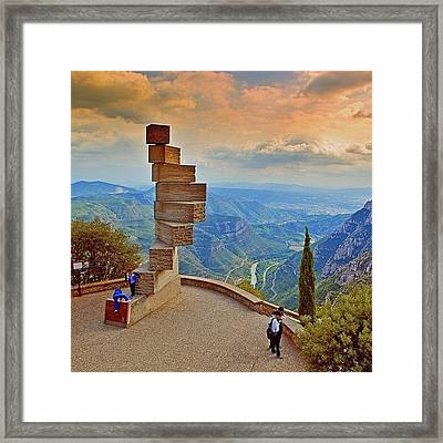 The Montserrat Mountain Natural Park Is Framed Print