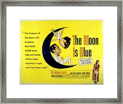 The Moon Is Blue, Poster Art, Maggie Framed Print by Everett