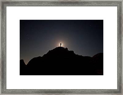 The Moon Man Framed Print