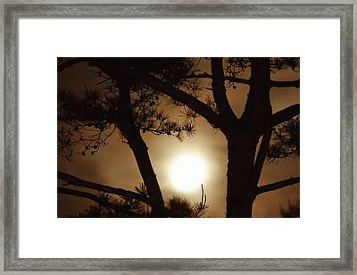 The Moon Rises Above Nanko Lake Framed Print by Michael S. Yamashita