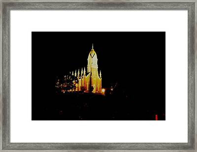 The Morman Temple In Brigham City Framed Print by Jeff Swan