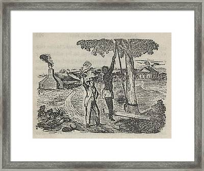 The Most Common Slave Punishments Framed Print
