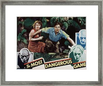 The Most Dangerous Game, Fay Wray, Joel Framed Print by Everett