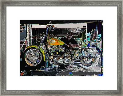 The Motorcycle Mechanic Framed Print by Samuel Sheats