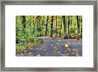 The Mount Vernon Trail. Framed Print