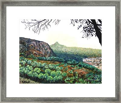 The Mountain Above Kabala Sierre Leone Framed Print by Caroline Street
