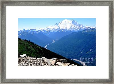 The Mountain And The Chipmunk  Framed Print