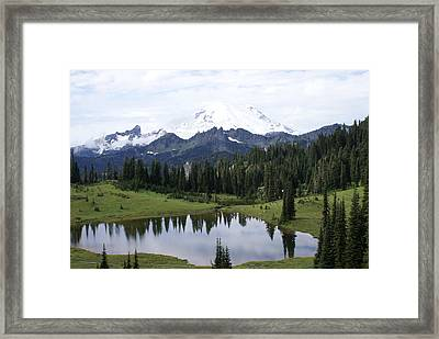 Framed Print featuring the photograph The Mountain by Jerry Cahill