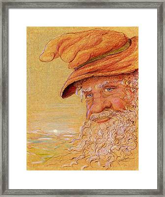 Framed Print featuring the drawing The Mountain Wizard by Dee Davis