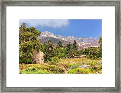 The Mountains Above Framed Print by Ken Wolter