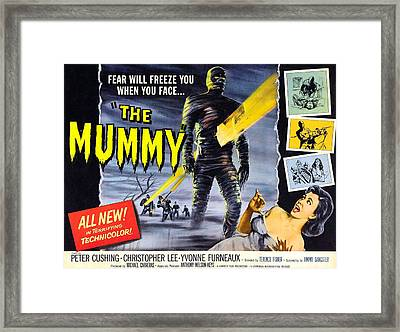 The Mummy, As The Mummy Christopher Framed Print by Everett