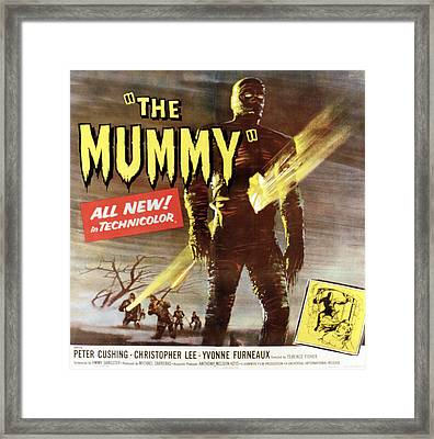 The Mummy, Christopher Lee, 1959 Framed Print