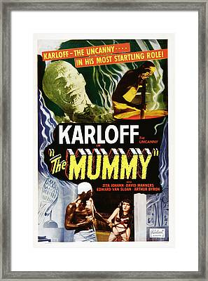 The Mummy, Top Left Boris Karloff Top Framed Print by Everett