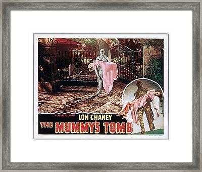 The Mummys Tomb, Elyse Knox, Lon Chaney Framed Print