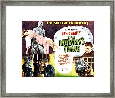 The Mummys Tomb, Top From Left Elyse Framed Print