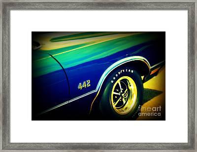 The Muscle Car Oldsmobile 442 Framed Print