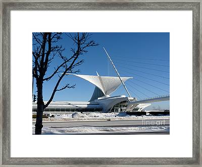 The Museum In Winter Framed Print by David Bearden
