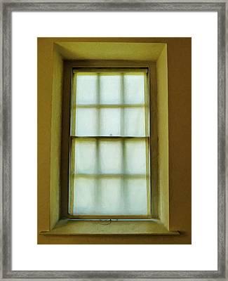 The Mustard Window Framed Print by Steve Taylor