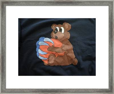 The My Ball Custom Painted Crewneck Sweatshirt Framed Print by Joseph Boyd