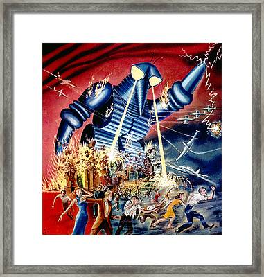The Mysterians, Aka Chikyu Boeigun, Mgm Framed Print by Everett