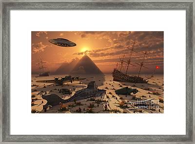 The Mysterious Bermuda Triangle Where Framed Print by Mark Stevenson