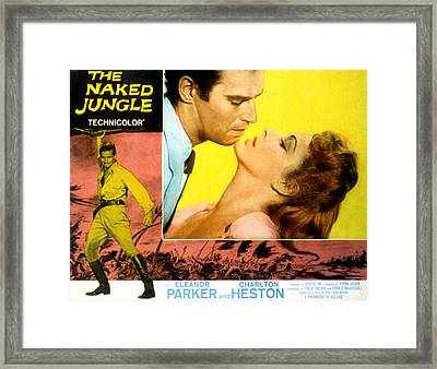 The Naked Jungle, Charlton Heston Framed Print