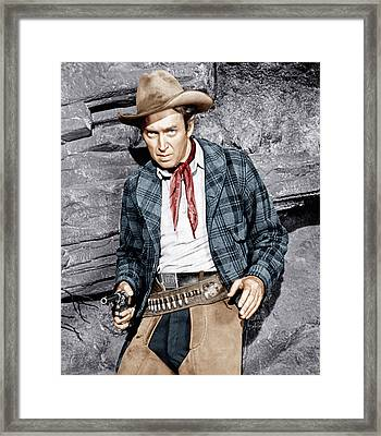 The Naked Spur, James Stewart, 1953 Framed Print by Everett