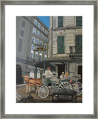 The Napolean House Framed Print by Amanda Ladner
