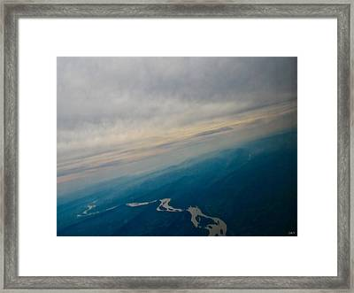 The Natural Water Movement Framed Print by Debra     Vatalaro
