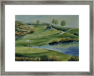 The Nature Of Golf At Tpc Framed Print by Sandy Fisher