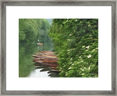 The Neckar River Framed Print