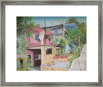 The Neighborhood Framed Print by Jim Barber Hove