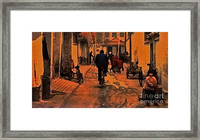 Framed Print featuring the photograph The Neighborhood by Lydia Holly