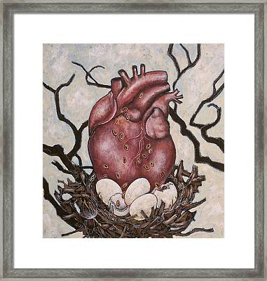 Framed Print featuring the painting The Nest Of My Heart by Sheri Howe