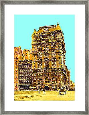 The Netherland Hotel In New York City In 1910 Framed Print by Dwight Goss