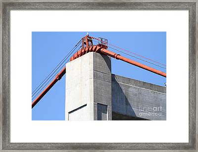 The New Alfred Zampa Memorial Bridge Aka The Carquinez Bridge . 7d16913 Framed Print by Wingsdomain Art and Photography