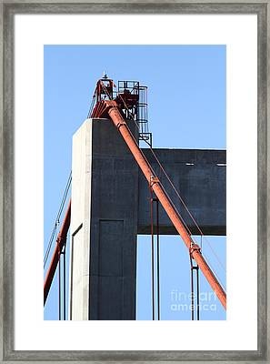 The New Alfred Zampa Memorial Bridge Aka The Carquinez Bridge . 7d16923 Framed Print by Wingsdomain Art and Photography