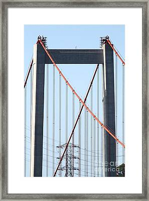 The New Alfred Zampa Memorial Bridge Aka The Carquinez Bridge . 7d16930 Framed Print by Wingsdomain Art and Photography