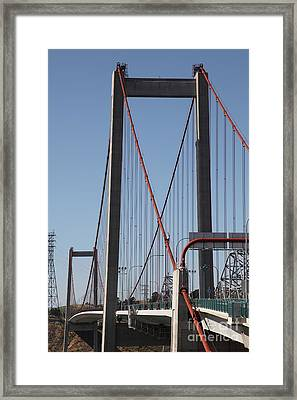 The New Alfred Zampa Memorial Bridge And The Old Carquinez Bridge . 5d16826 Framed Print