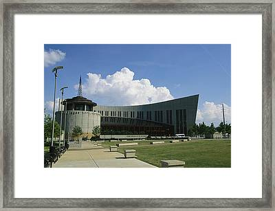 The New Country Music Hall Of Fame Framed Print by Stephen Alvarez