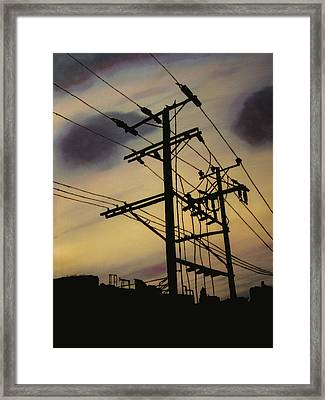 The New Face Of The Western Frontier Framed Print by Kim Jacobi