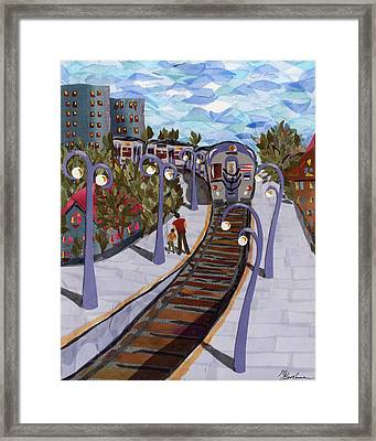The Next Stop Is... Framed Print by Marina Gershman
